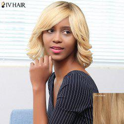 Siv Hair Short Side Bang Shaggy Wavy Bob Human Hair Wig