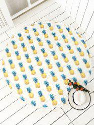Round Pineapple Printed Tassel Beach Throw