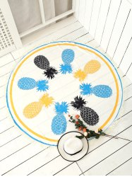 Round Pineapple Patterned Tassel Beach Throw