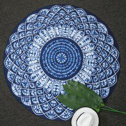 Kaleidoscope Printed Round Beach Throw