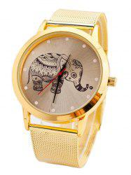 Metal Mesh Elephant Quartz Watch