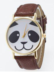 Panda Face Dial Plate Design Quartz Watch
