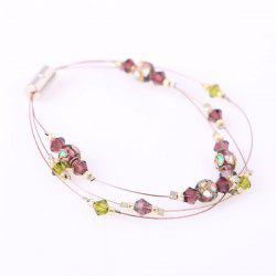 Artificial Gem Beads Bracelet