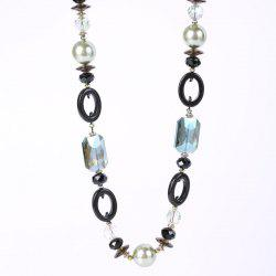 Artificial Pearl Oval Necklace