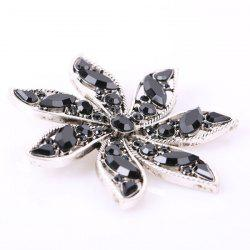 Artificial Gem Flower Brooch