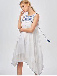 Casual Hanky Hem Bohemian Summer Dress
