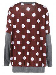 Plus Size Polka Dot Panel Tunic T-Shirt -