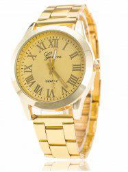 Roman Numerals Quartz Watch - YELLOW