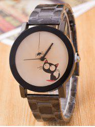Big Eyes Cat Observe Spider Design Alloy Quartz Watch