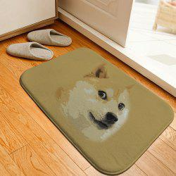Doge Head Print Home Decor Caroset Skidproof Carpet For Bathroom