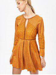 Yellow Long Sleeve Lace Dress Cheap Shop Fashion Style With Free ...
