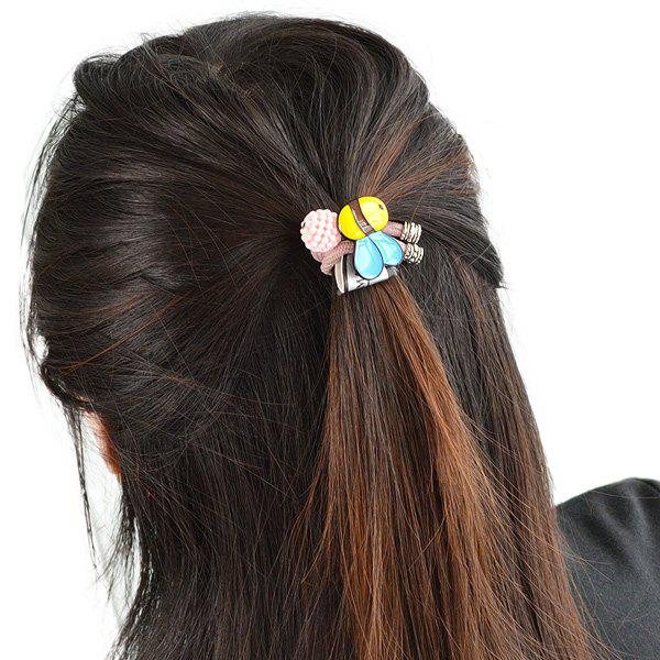 Elastic Bee Ball Embellished HairbandACCESSORIES<br><br>Color: PINK; Headwear Type: Elastic Hair Band; Group: Adult; Gender: For Women; Style: Fashion; Shape/Pattern: Animal; Material: Alloy; Weight: 0.060kg; Package Contents: 1 x Hairband;