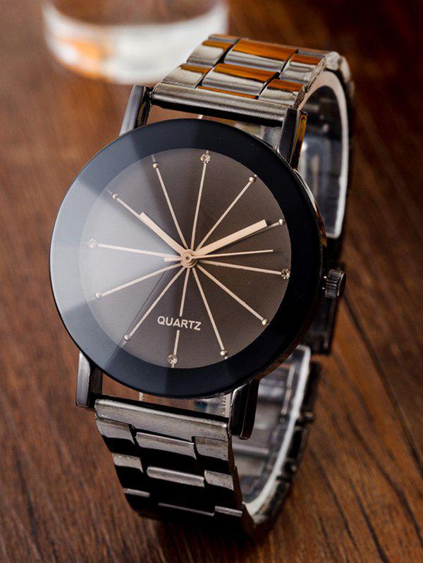 Conical Surface Quartz WatchJEWELRY<br><br>Color: GUN METAL; Gender: For Women; Style: Formal; Type: Quartz watch; Index Dial: Analog; Case material: Alloy; Band material: Alloys; Movement: Quartz; Dial Shape: Round; Water-Proof: No; Case Thickness(MM): 0.9cm; Dial Diameter: 3cm; Band Length(CM): 23.5cm; Band Width(CM): 1.6cm; Package Contents: 1 x Watch;