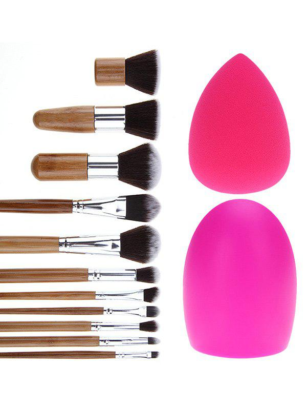 11 Pcs Makeup Brushes Set + Brush Egg + Makeup SpongeBEAUTY<br><br>Color: SILVER; Category: Makeup Brushes Set; Brush Hair Material: Synthetic Hair; Features: Professional; Season: Fall,Spring,Summer,Winter; Weight: 0.2300kg; Package Contents: 11 x Brushes (Pcs)  1 x Makeup Sponge  1 x Brush Egg;
