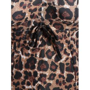 Padded Leopard Print Skirted One-Piece Swimsuit -