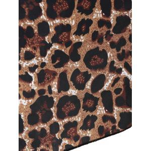 Padded Leopard Print Skirted One-Piece Swimsuit - LEOPARD 5XL