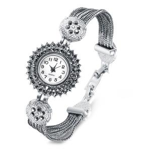 Rhinestone Quartz Bracelet Watch