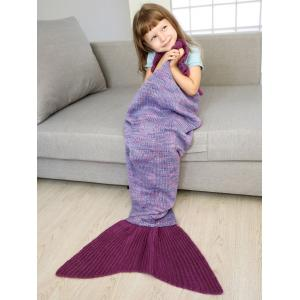 Home Decor Handmade Flower Ruffles Knitted Mermaid Blanket Throws For Kids -