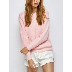 Chunky Back Zipper Jumper Sweater