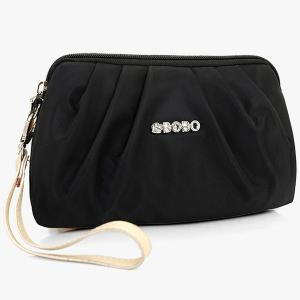 Nylon Ruched Wristlet -