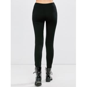 Skinny Ripped Footless Leggings -