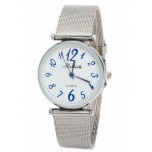 Metal Mesh Band Number Watch