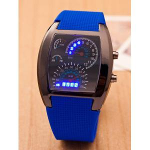 Silicone Strap Sport Watch - Blue