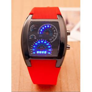 Silicone Strap Sport Watch - Red