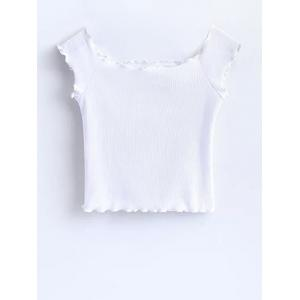 Ruffles Off Shoulder Crop Top