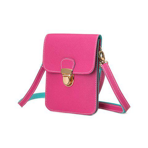 Push Lock Color Block Crossbody Bag