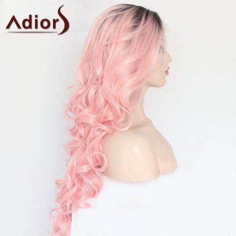 Buy Adiors Long Side Parting Colormix Wavy Lace Front Synthetic Wig - COLORMIX  Mobile