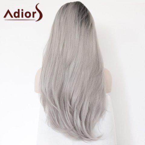 Shops Adiors Long Side Parting Colormix Straight Lace Front Synthetic Wig - COLORMIX  Mobile