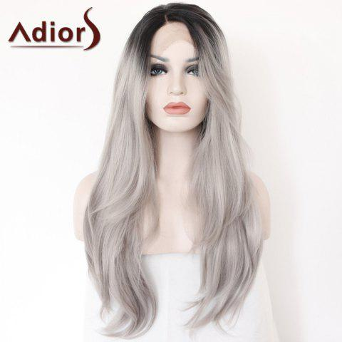 Buy Adiors Long Side Parting Colormix Straight Lace Front Synthetic Wig - COLORMIX  Mobile