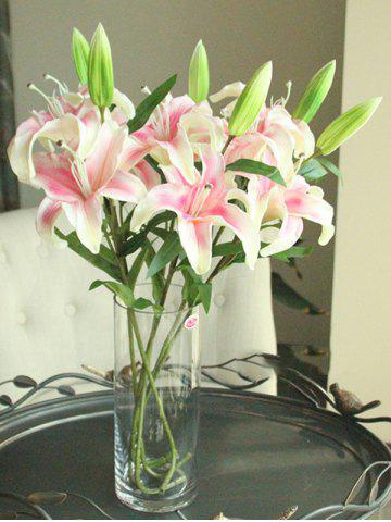 Affordable Artificial Blossoming Lily Branch PINK