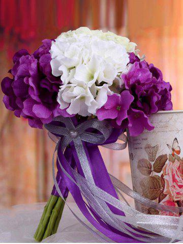 Trendy Two Tones Artificial Hydrangea Bridal Wedding Bouquets