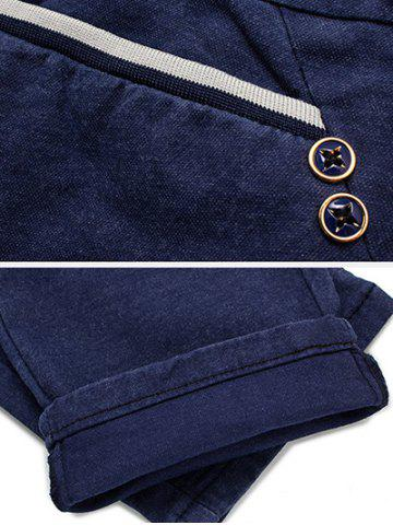 Discount Casual Straight Leg Drawstring Pants - 34 BLUE Mobile