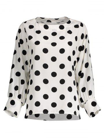 Hot Polka Dot Long Sleeves Blouse