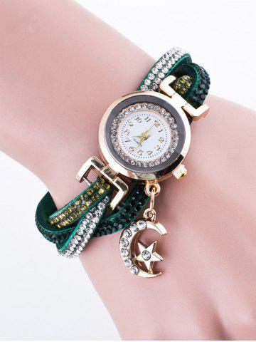 Fashion Rhinestone Studded Bracelet Watch