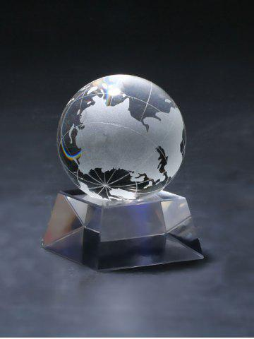 Boule Accueil Craft Décoration Fengshui Clear Crystal Transparent Globe Texture