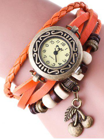 Braided Strand Bracelet Watch - Jacinth - S