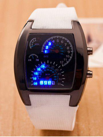 Affordable Silicone Strap Sport Watch WHITE