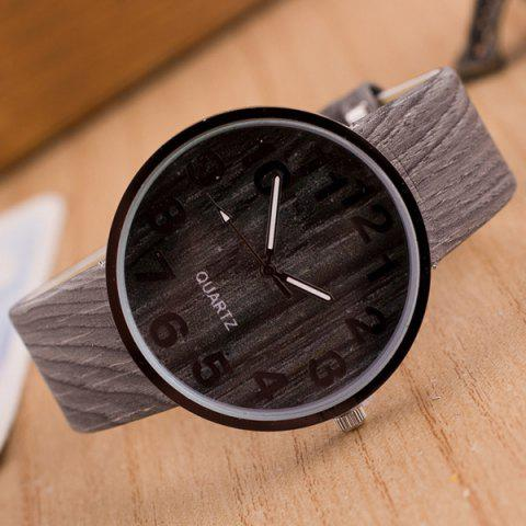 Outfit Faux Leather Wood Grain Watch GRAY