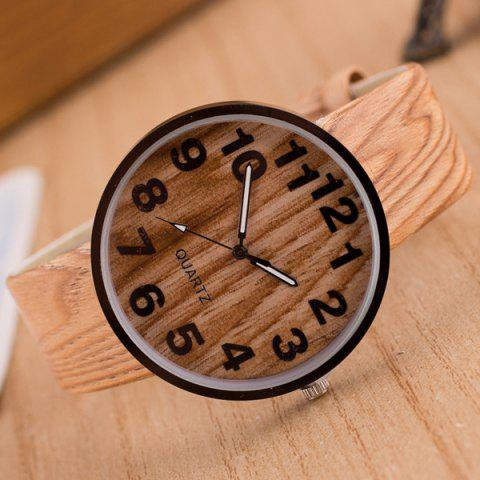 Hot Faux Leather Wood Grain Watch PALOMINO