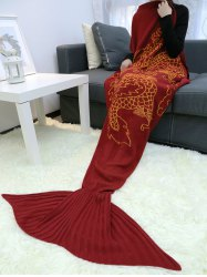Chinese Dragon Knitted Mermaid Blanket Throw