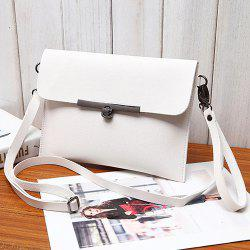 Flapped Metal Detail Crossbody Pouch