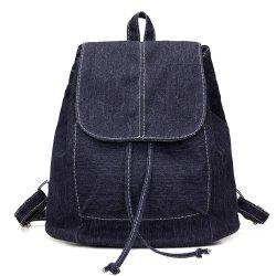 Drawstring Cover Canvas Backpack