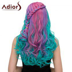 Adiors Long Colormix Centre Parting Side Braided Wavy Synthetic Wig