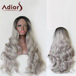 Adiors Long Side Parting Colormix Fluffy Wavy Lace Front Synthetic Wig - COLORMIX