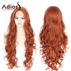 Adiors Long Side Parting Fluffy Layered Wavy Lace Front Synthetic Wig -
