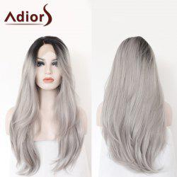 Adiors Long Side Parting Colormix Straight Lace Front Synthetic Wig